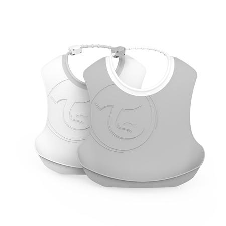 Slika Twistshake® Dva slinčka Grey&White (4+m)