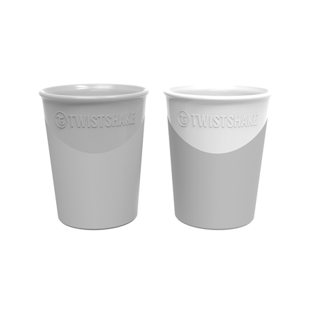 Slika Twistshake® 2x Kozarček Grey&White 170ml (6+m)