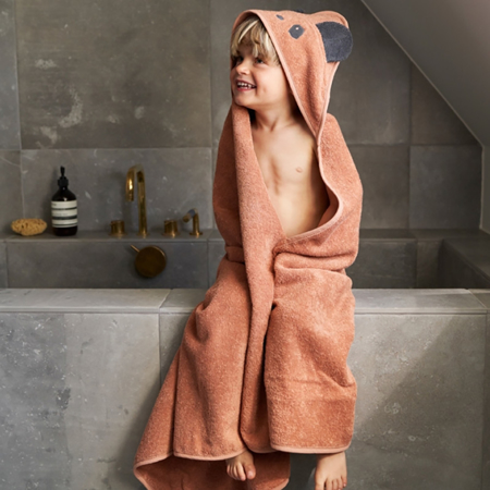 Liewood® Brisača s kapuco Fox Mustard 70x70