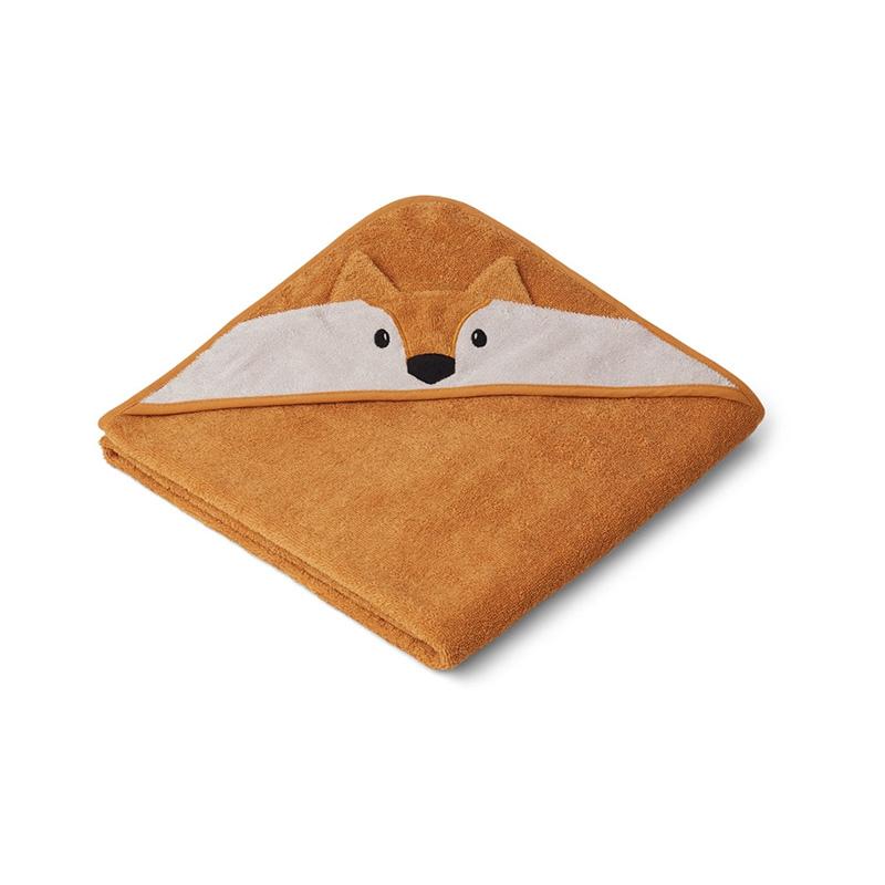 Liewood® Brisača s kapuco Fox Mustard 100x100