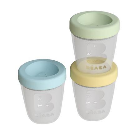 Slika Beaba® Set 3 silikonskih posodic za shranjevanje hrane 3x200ml Spring