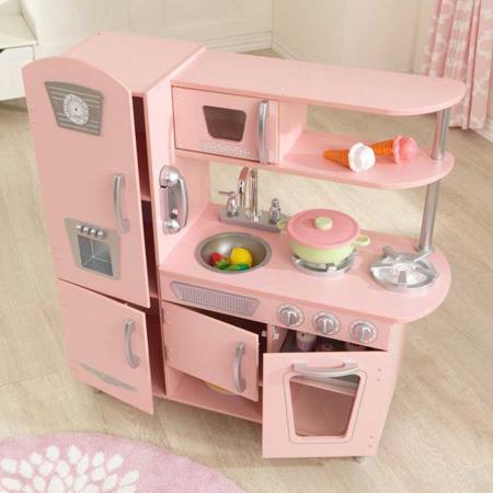 KidKraft® Otroška kuhinja Vintage Pink/Silver