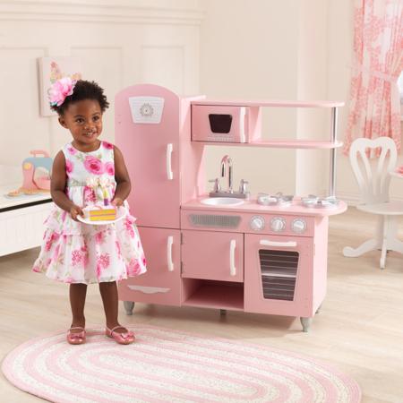 KidKraft® Otroška kuhinja Vintage Pink/White