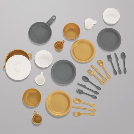 Slika KidKraft® Igralni 27-delni set Modern Metallics