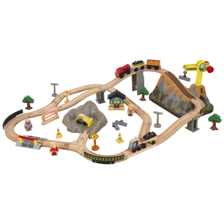 Slika KidKraft® Igralni set z železnico Construction Train