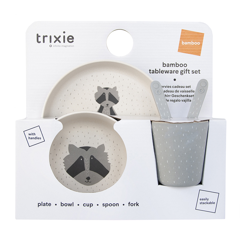 Trixie Baby® Jedilni set Mr. Raccoon