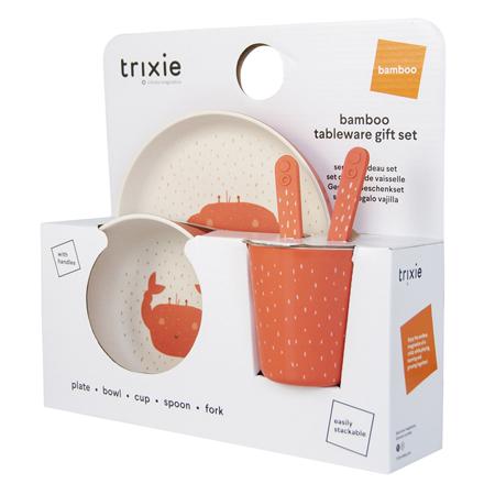 Trixie Baby® Jedilni set Mrs. Crab