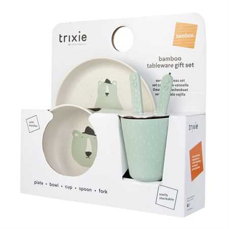 Trixie Baby® Jedilni set Mr. Polar Bear