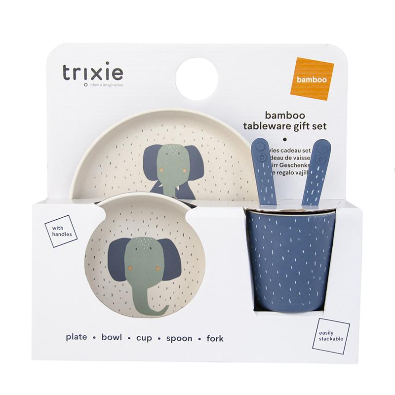Trixie Baby® Jedilni set Mrs. Elephant