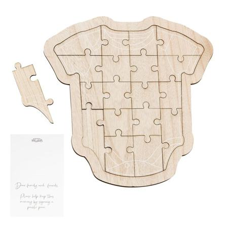Slika Ginger Ray® Lesena sestavljanka za goste Baby