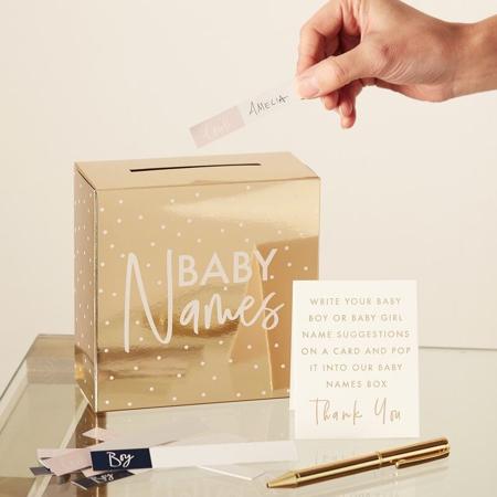 Slika Ginger Ray® Zlata škatlica za predloge otroških imen