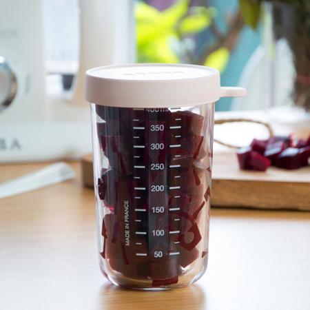 Beaba® Steklena posodica za shranjevanje 400ml Pink