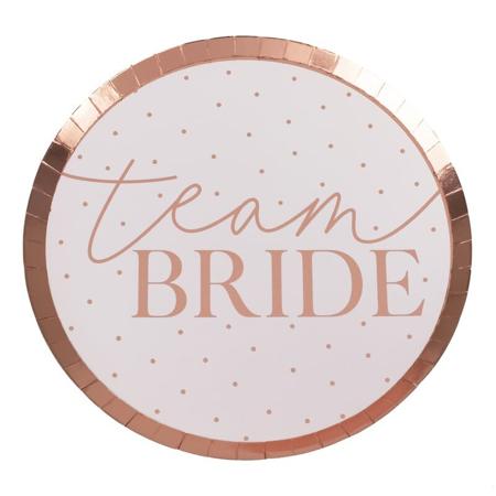 Slika Ginger Ray® Papirnati krožniki Team Bride 8 kosov