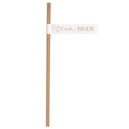 Slika Ginger Ray® Papirnate slamice Team Bride 16 kosov