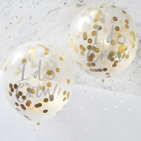 Slika Ginger Ray® Baloni s konfeti I Do Crew 5 kosov
