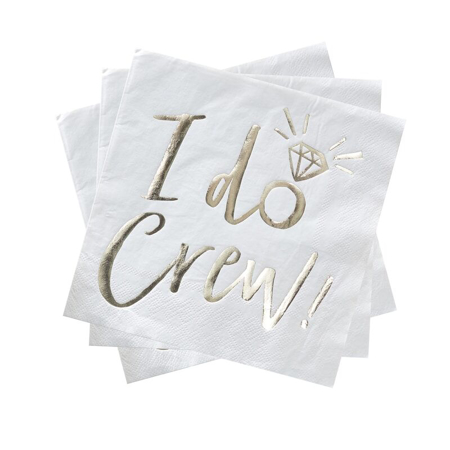 Slika Ginger Ray® Serviete I Do Crew 16 pz