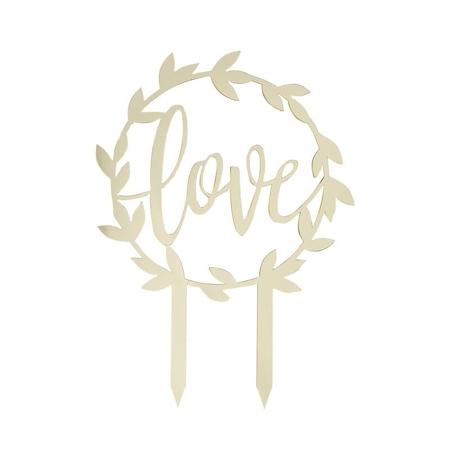 Slika Ginger Ray® Zlati okrasek za torto Love