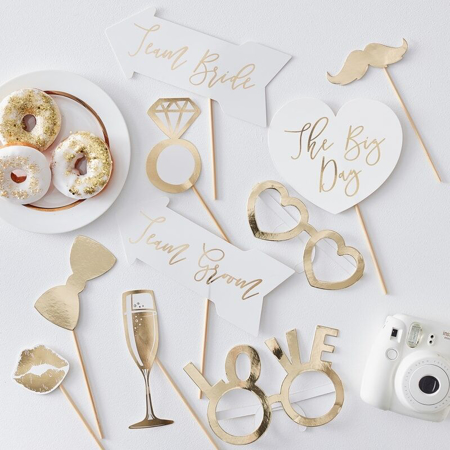 Ginger Ray® Komplet za fotografiranje Gold Wedding