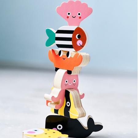 Petit Monkey® Lesene figurice zlaganje Ocean