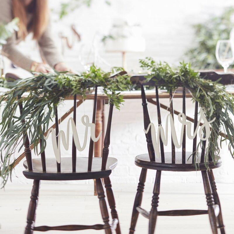 Ginger Ray® Lesena dekoracija za na stol Mr & Mrs