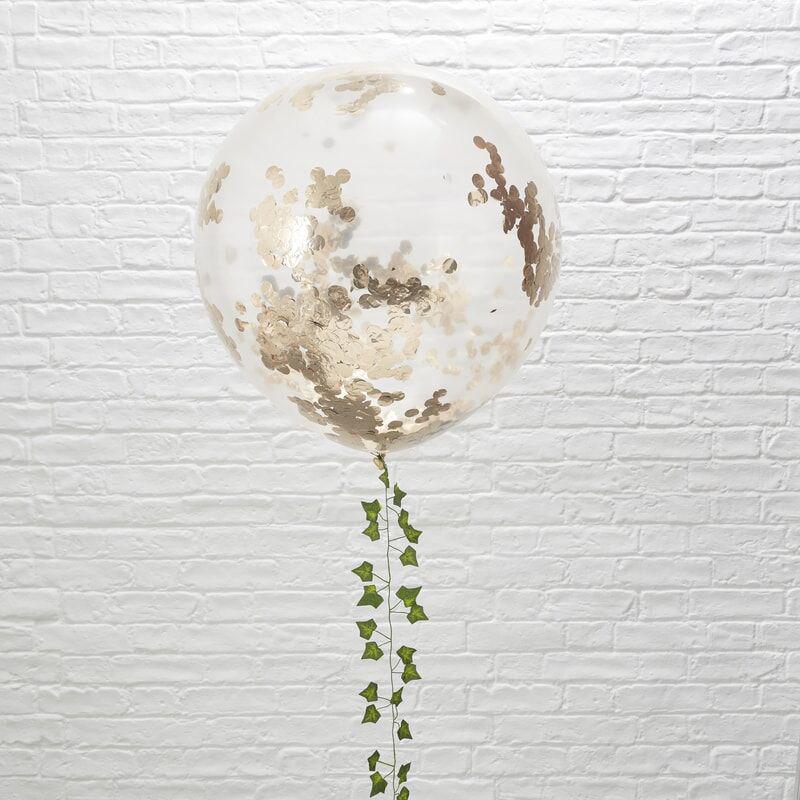 Ginger Ray® Velik balon s konfeti Rose Gold