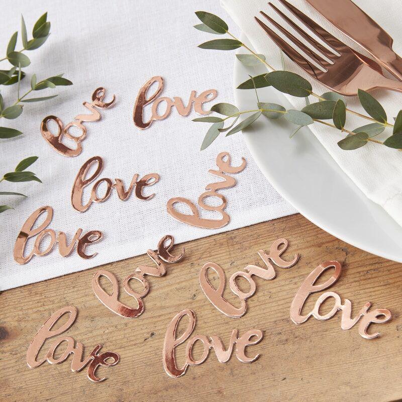 Ginger Ray® Namizni okrasni konfeti Rose Gold Love