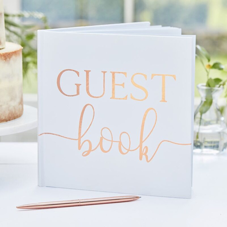 Slika Ginger Ray® Spominska knjiga za goste Rose Gold