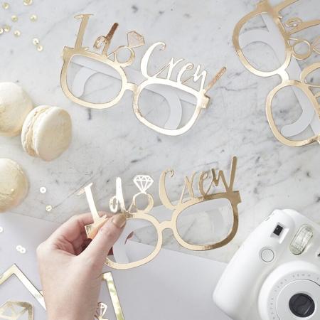 Slika Ginger Ray® Komplet za fotografiranje I Do Crew Glasses