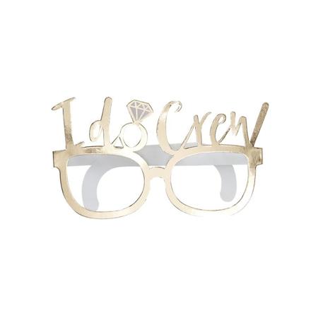 Ginger Ray® Komplet za fotografiranje I Do Crew Glasses