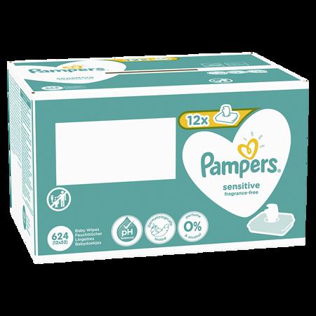 Slika Pampers® Otroški čistilni robčki Sensitive 12x52 kosov