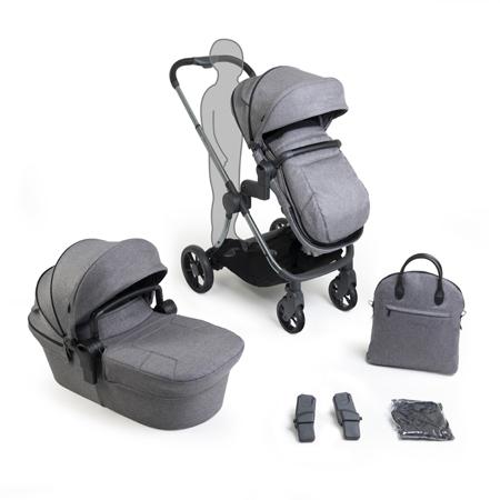 iCandy® Otroški voziček s košaro 2v1 Lime Lifestyle Charcoal