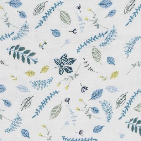 CamCam® Otroška posteljnina Pressed Leaves Blue Junior 100x140, 45x40