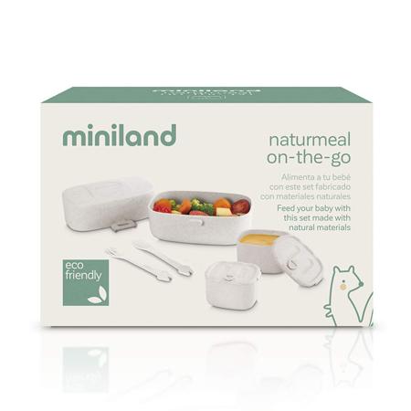 Miniland® Jedilni set Naturmeal On The Go