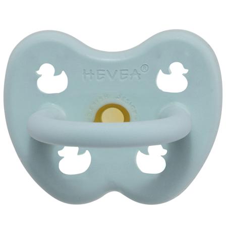 Slika Hevea® Tolažilna duda iz kavčuka RAČKA (0-3m) Baby Blue
