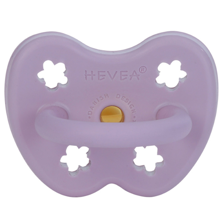 Hevea® Ortodontska duda iz kavčuka Colourful (3-36m) Lavander