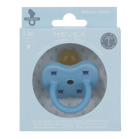 Slika Hevea® Ortodontska duda iz kavčuka Colourful (3-36m) Sky Blue