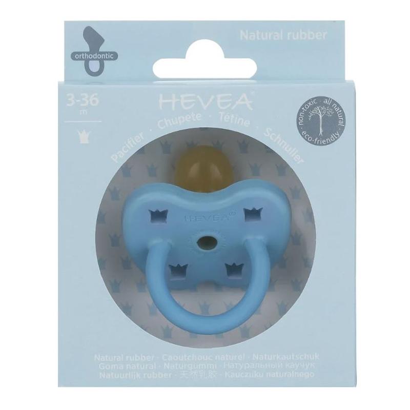 Hevea® Ortodontska duda iz kavčuka Colourful (3-36m) Sky Blue