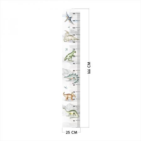 Yokodesign® Stenska nalepka meter Dinozavri