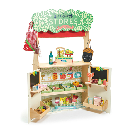 Slika Tender Leaf Toys® Trgovina in Gledališče Woodland Stores and Theater