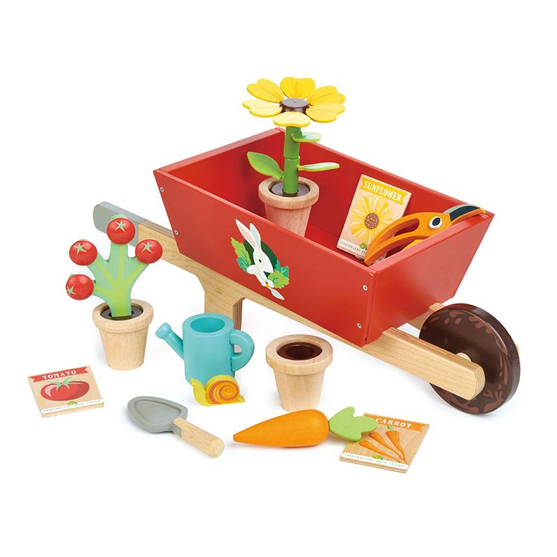 Tender Leaf Toys® Samokolnica Garden Wheelbarrow Set