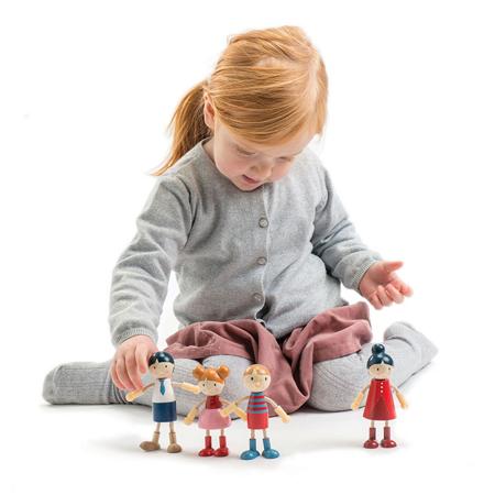 Slika Tender Leaf Toys® Lesene lutke Doll Family