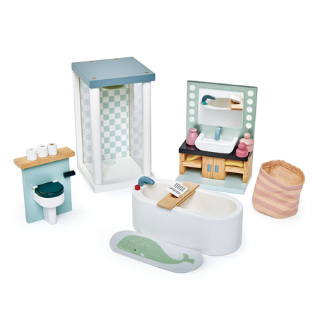 Slika Tender Leaf Toys® Kopalnica za lutke Dolls House Bathroom Furniture