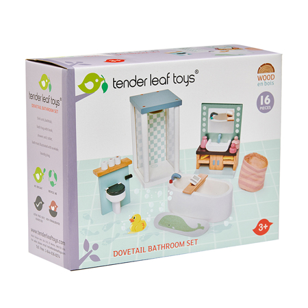 Slika Tender Leaf Toys® Kopalnica za lutke Dolls House Bathroom Furniture
