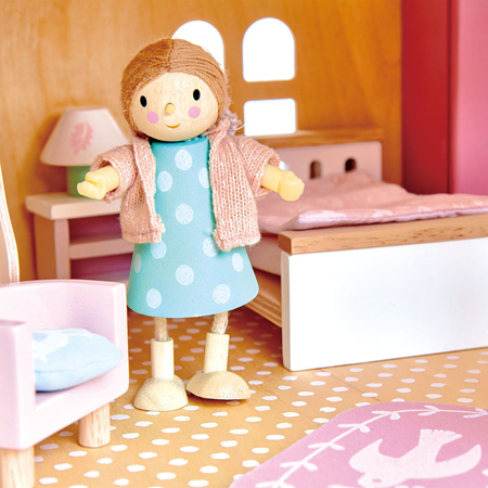 Tender Leaf Toys® Spalnica za lutke Dolls House Bedroom Furniture