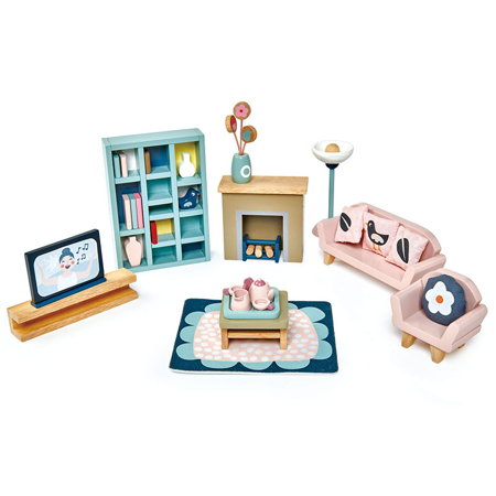 Slika Tender Leaf Toys® Dnevna soba za lutke Dolls House Sitting Room Furniture