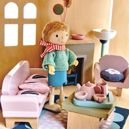 Tender Leaf Toys® Dnevna soba za lutke Dolls House Sitting Room Furniture
