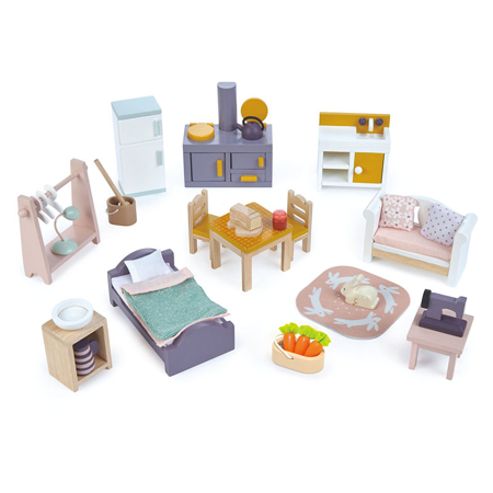 Slika Tender Leaf Toys® Komplet pohištva za lutke Countryside Furniture Set