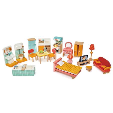 Slika Tender Leaf Toys® Komplet pohištva za lutke Townhouse Furniture Set
