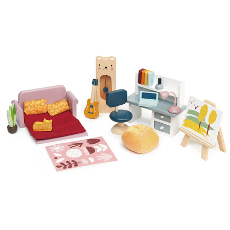 Slika Tender Leaf Toys® Komplet pohištva za lutke Dolls House Study Furniture
