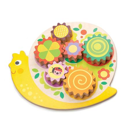 Slika Tender Leaf Toys® Aktivnostni igrača Polžek Snail Whirls